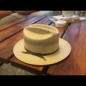 Open road Stetson straw cowboy hat 7 1/2 7.5